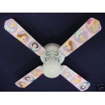 Ceiling Fan Designers Disney Princesses Oval Ceiling Fan: 42""
