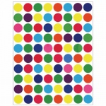 Hygloss Sticker Forms: Colored Circle, 3 Sheets