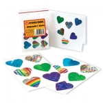 Hygloss Holographic Sticker: Hearts, 6 Sheets