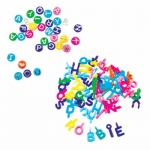 Hygloss ABC Beads & Charms: 60 Charms