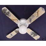 Ceiling Fan Designers African Safari Elephant Zebra Ceiling Fan: 42""