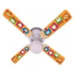 Ceiling Fan Designers Garfield the Cat and Odie Kids Orange Ceiling Fan: 42""
