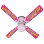 Ceiling Fan Designers Garfield the Cat Kids Girls Pink Ceiling Fan: 42""