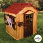 Kidkraft Outdoor Playhouse: Door and wide windows that open and close