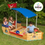 Kidkraft Pirate Sand boat: Convenient storage space for keeping buckets, shovels and other sand toys