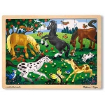 Frolicking Horses Jigsaw Puzzle: 48 Pieces, 3+ Years