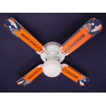 Ceiling Fan Designers NFL Denver Broncos Football Ceiling Fan: 42""