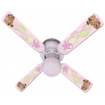 Ceiling Fan Designers Baby Nursery Toys Blocks Pink Ceiling Fan: 42""