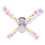 Ceiling Fan Designers Girls Pink Tea Time Party Ceiling Fan: 42""