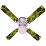Ceiling Fan Designers Crazy Camo Ceiling Fan: 42""