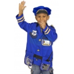 Police Officer Role Play Costume Set: 3 - 6 Years