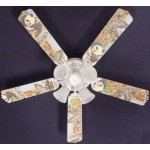 Ceiling Fan Designers Baby Safari Elephant Lion Zebra Ceiling Fan: 52""