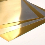 "Hygloss Metallic Foil Board: Gold, 12"" x 12"""