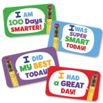 Hygloss Teacher Stickers: I Am 100 Days Smarter!, 25 Teacher Stickers per Package