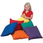 "The Children's Factory Cozy Primary Color Pillows: 17"", Set of 6, With Poly Fill"
