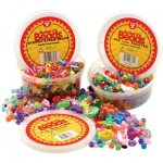 Hygloss Bucket O`Beads Multi-Mix: Multi Mix with Elastic Thread, 12 Ounces