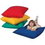 The Children's Factory Square Floor Pillows: Primary Colors, Set of 4
