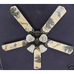 Ceiling Fan Designers African Safari Elephant Zebra Ceiling Fan: 52""