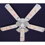 Ceiling Fan Designers Disney Princesses Dancing Ceiling Fan: 52""