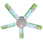 Ceiling Fan Designers Baby Monkey Mischief with Banana Ceiling Fan: 52""