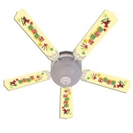Ceiling Fan Designers Baby Nursery Toys Blocks Yellow Ceiling Fan: 52""