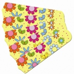 Ceiling Fan Designers Flower Power Butterflies Ceiling Fan Blades: Yellow, 52""