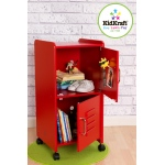 Kidkraft Medium Locker - Red: 2 separate storage compartments