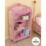 Kidkraft Princess Bookcase: Three deep shelves for storing books, toys, games and more