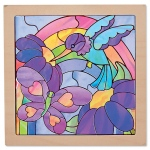 "Rainbow Garden ""Stained Glass"" Peel & Press Sticker by Numbers: 6+ Years"