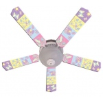 Ceiling Fan Designers Baby Nursery Happy Wings Ceiling Fan: 52""