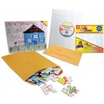 "Hygloss Make-A-Puzzle: Mailing Envelope, Fits 5"" x 7"" Puzzle"
