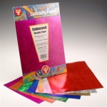 "Hygloss Embossed Metallic Paper: 8.5"" x 11"", 100 Sheets"