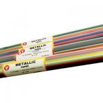 Hygloss Metallic Paper: Dull Colors, 10 Sheets, Rolled