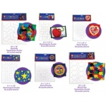 "Hygloss Color Your Own Puzzle: 6 Heart Puzzles, 7.75"" x 8.5"""