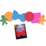 Hygloss Pocket Shapes: 100 People Shapes, Card Stock, 2""