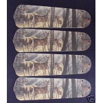 Ceiling Fan Designers Deer Buck Doe Hunting Ceiling Fan Blades: 42""