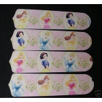 Ceiling Fan Designers Dancing Disney Princess Princesses Ceiling Fan Blades: 42""