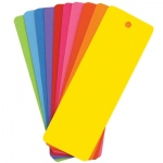 Hygloss Blank Bookmarks: Assorted Colors, 500 Bookmarks