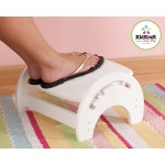 Kidkraft Adjustable Stool for Nursing - White: Anti-slip pads on the base