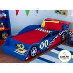 Kidkraft Racecar Toddler Bed: Fits most crib mattresses