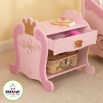 Kidkraft Princess Toddler Table: Drawer with crown-shaped knob