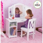 Kidkraft Deluxe Vanity & Chair: One large mirror and two adjustable side mirrors