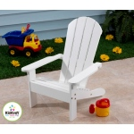 Kidkraft Adirondack Chair White: Made of weather-resistant wood