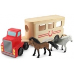 Horse Carrier Wooden Vehicles Play Set: 3+ Years