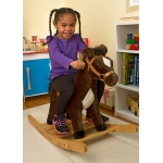 Rock and Trot Plush Rocking Horse: 2+ Years