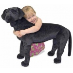 Black Lab Giant Stuffed Animal: 3+ Years