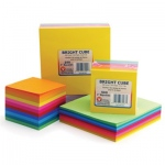 "Hygloss Bright Cube Pad: 3"" Cube, 500 square sheets / 50ea. of 10 Colors"