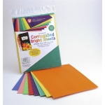 Hygloss Corrugated Craft Paper: Bright Colors, 8 Sheets, 1 ea of 8 colors