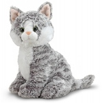 Greycie Tabby Cat Stuffed Animal: All Ages