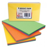 "Hygloss Cubes & Pads: 3"" x 5"" Pads, 3 Pads of 50 Sheets, 10 Sheets of 5 Colors"